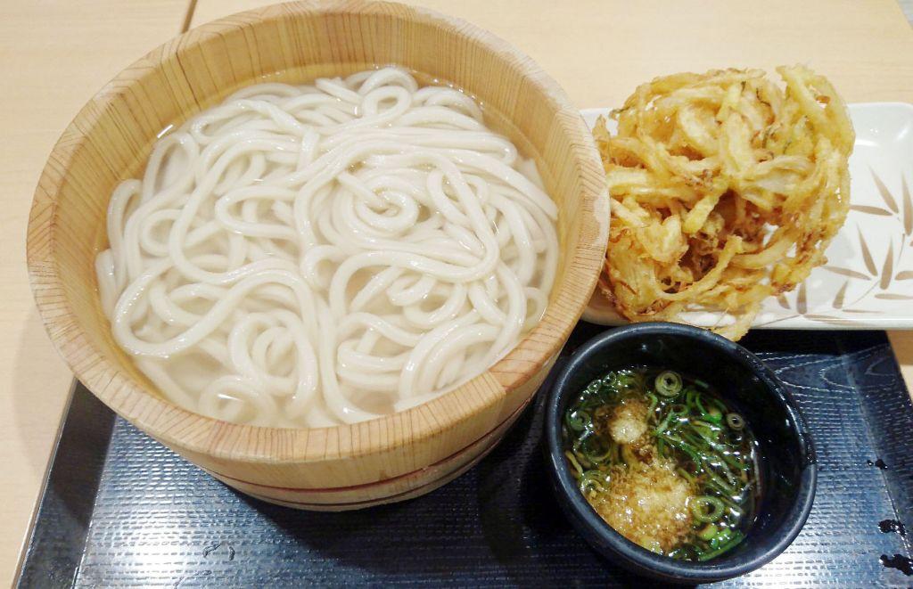 丸亀製麺の釜揚げうどん