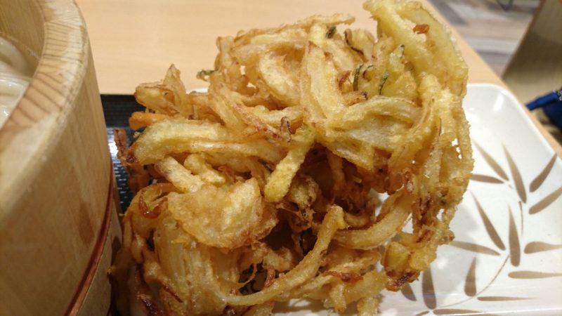 丸亀製麺のかき揚げ