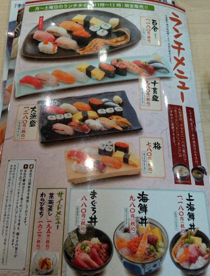 一人 前 カロリー 寿司