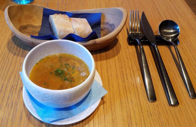 ブラッスリーうかいのランチスープ